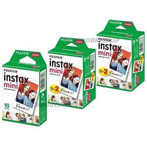 5 Packs Fujifilm instax Mini Film,50 Fuji instant photos 7s 8 90 Polaroid 300