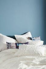 ANTHROPOLOGIE WHITE RUFFLED QUEEN DUVET COVER *BRAND NEW*