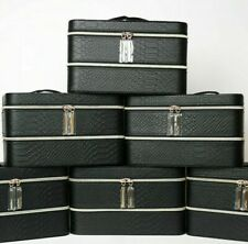 New Wholesale Lot of 4 X Lancome Black Double Layers Cosmetic Makeup Case
