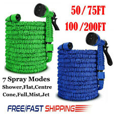 More details for heavy duty garden hose pipe extra long expandable water spray gun 50ft-200ft uk