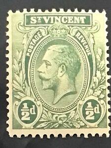 St Vincent stamp GV 1/2d green MH