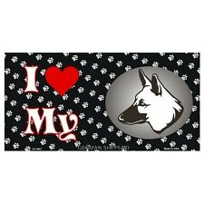 USA Novelty Number Plate - German Shepherd - I Love My  Sign Decor