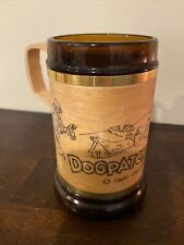 Vtg Old Wooden Mug Cup Dogpatch USA Amusement Park General Jubilation