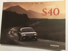 VOLVO S40 OWNERS MANUAL DRIVERS HANDBOOK 1996 PETROL & TURBO-DIESEL MODELS