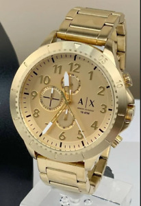 Armani Exchange Men's Multifunction Gold-Tone Stainless Steel Watch AX1752