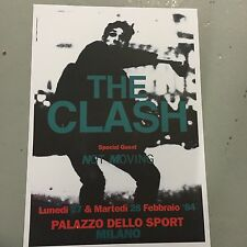 THE CLASH - CONCERT POSTER MILANO ITALY 27TH 28TH FEBRUARY 1984   (A3 SIZE)