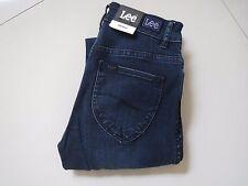 BNWT Ladies Lee Mid Licks Deep Blue Stretch Jeans Size 7