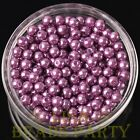 New 50pcs 6mm Round Glass Pearl Loose Spacer Beads Jewelry Making Purple