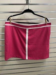 IZOD NWT ( $64) Women's Size 16 Pink/ White Golf Skort side zip