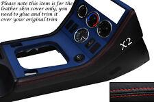 RED Stitch 2x center console side trim CUOIO PELLE copre gli accoppiamenti BMW Z3 95-03