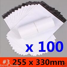 100x 255x330mm Plastic Satchel Courier Poly Mailer Self Sealing Mailing Post Bag