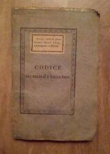 Codice dei Delitti e delle Pene pel Regno d'Italia - Milano -  1810
