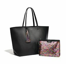 Victoria's Secret Limited Edition Black Friday Tote Bag Sequin Pouch 2016