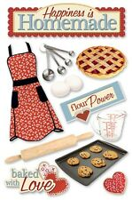 PAPER HOUSE HOMEMADE COOKING BAKING KITCHEN DIMENSIONAL 3D SCRAPBOOK STICKERS