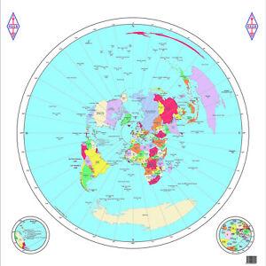 RSGB Great Circle Map - Large High Quality Amateur / Ham Radio Map