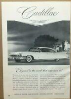 "Vintage 1960 White Cadillac Elegance General Motors Car Print Ad 10 7/8"""