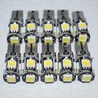 T10 White Led Canbus Error Free 5 SMD Car Side Wedge light Bulb 168 194 W5W 10pc