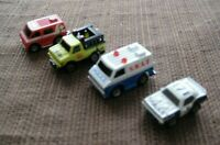 GALOOB MICRO MACHINES CITY SERVICE SET POLICE, SWAT, RESCUE, AMBULANCE 1988