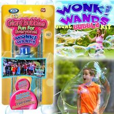Set of 2 =4 Wonki Wands Giant Bubble Wand Toy + 2 Soap Bubble solution Outdoor