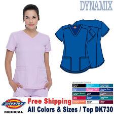 Dickies Scrubs Dynamix Donna Medico Uniforme Maglia Scollo A V DK730