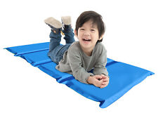 Toddler Kids Nap Rest Mat School Daycare Tri-Fold Sleeping Compact Blue Children