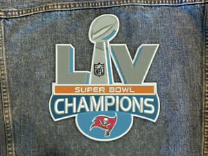 "TAMPA BAY BUCCANEERS CHAMPIONS SUPER BOWL LV 55 PATCH 10"" XLG PATCH JACKET STYLE"