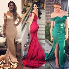 Elegant Off Shoulder Evening Dress Mermaid Side Slit Long Prom Dress Formal Gown