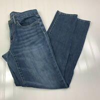 Eddie Bauer Boyfriend Slim Jeans Womens Size 0 Blue Denim Medium Wash Pants