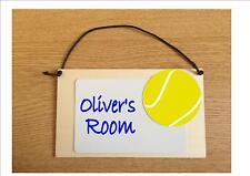 Kids Bedroom Door Sign Tennis Sign Boys Bedroom Door Sign Personalised Sign