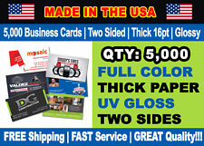 5000 Full Color Double Side Custom Business Cards We Can Design for You Checkout