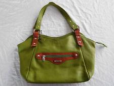 Cristina In Pell Green Pebbled Leather Purse Handbag Shoulder Bag