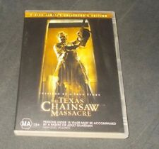 THE TEXAS CHAINSAW MASSACRE 2 DISC LIMITED COLLECTOR'S EDITION DVD R4 VGC REMAKE