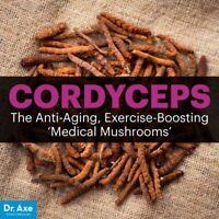 Cordyceps  Mushroom Capsules (Cordyceps sinensis) 100% Organic NON-GMO