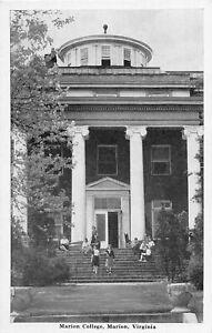 H48/ Marion Virginia Postcard c1940s Marion College Building
