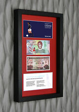 3D BOX FRAME GEORGE BEST LIMITED EDITION LEGAL TENDER £5 POUND NOTE PRESENTATION