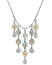 PILGRIM Kette Collier Collar, Kristall,Swarovski Elements, zartgelb, versilbert