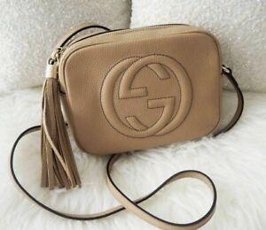 AUTHENTIC Gucci SOHO Disco Bag Handbag Rose Beige