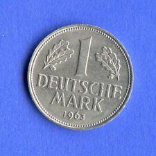 1 DM 1963 G  -  bfr/Stempelglanz  -  rar in dieser Erhaltung  - TOP Münze