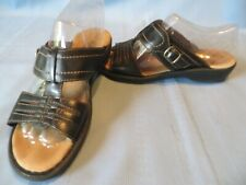 Clarks Bendables 81176 Black Leather Strappy Sandals  Size 7 M