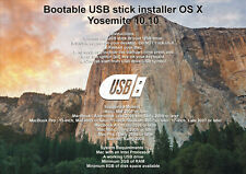 Bootable USB Stick - macOS X Yosemite Full OS Install, Reinstall and Upgrade