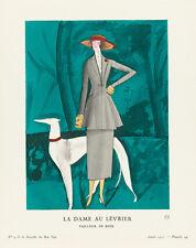 The Lady with Greyhound La Gazette du Bon Ton 1921 Art Print