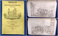 Bülletin,des eidgenössischen Freischießens in Solothurn 11 Hefte in 1 Bd 1840 sf