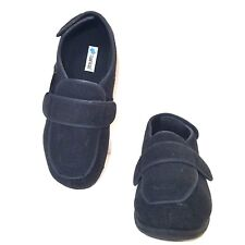 FOAMTREADS Mens Size 12 Black Charcoal Gray Physician Memory Foam Slippers NEW