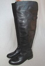 """FRYE OVER THE KNEE """"SHIRLEY"""" BLACK LEATHER BOOTS SZ 8"""
