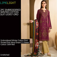 Limelight 2Pc Embroidered Shirt + Printed Dupatta Khaadi Sana Safinaz Agha Noor