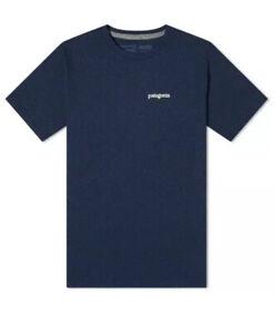 Patagonia Fitz Roy Horizons Responsibili Tee Shirt -S/S Crew Neck Navy Men's XL