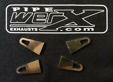 Pipe Werx Motorbike Exhaust Stainless Steel Laser Cut Exhaust Spring Hooks x4