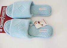 Dearfoams Womens Resort Blue Open Toe Slip On Slippers DF733 Sz XL (11-12) - New