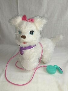 Fur Real Friends My Walkin' Pup Interactive Electronic White Puppy Girl Dog Pal