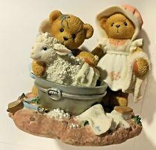 Very Rare Cherished Teddies 847348 Deidre Delilah Timothy Lamb Wash Tub Nib 9